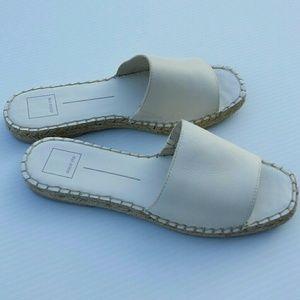 Dolce Vita Bobbi Off White Leather Espadrille NWOB